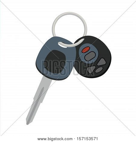 Car keys vector icon design. Auto lock opener and signaling keychain sign or symbol in flat style.