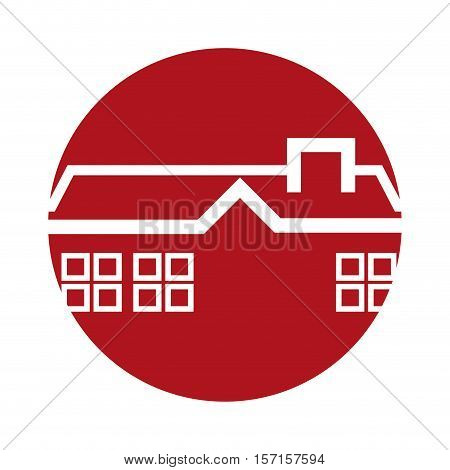 real estate house in tag vector illustration design