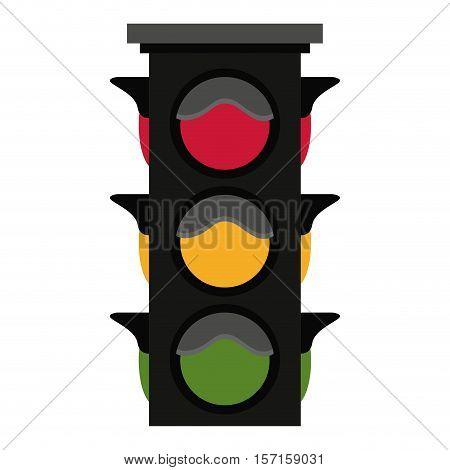 Semaphore icon. Signal road light traffic and urban theme. Isolated design. Vector illustration