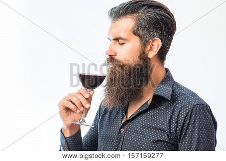 Bearded Man With Wine