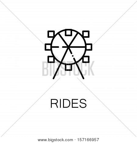 Ferris wheel flat icon. Single high quality outline symbol of recreation for web design or mobile app. Thin line signs of ferris wheel for design logo, visit card, etc. Outline pictogram of ferris wheel