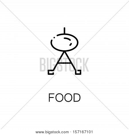 Grill flat icon. Single high quality outline symbol of recreation for web design or mobile app. Thin line signs of grill for design logo, visit card, etc. Outline pictogram of grill