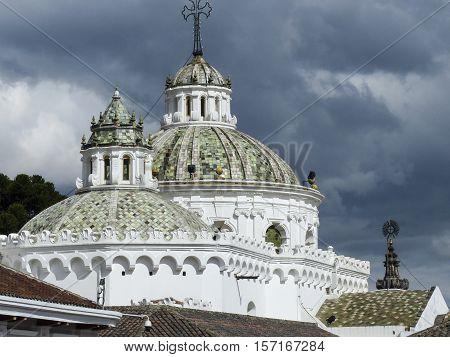 Colonial Quito Cathedral. Ecuador