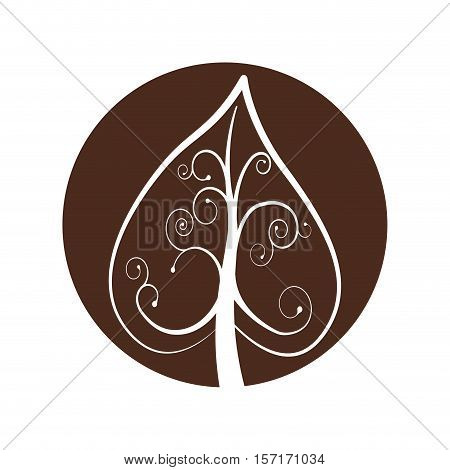 tree plant hand drawing isolated icon vector illustration design