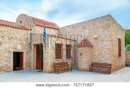The medieval Byzantine Church of St Matthew of Sinai is one of the main preserved city landmarks Heraklion Crete Greece.