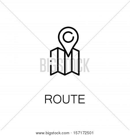 Route flat icon. Single high quality outline symbol of camping for web design or mobile app. Thin line signs of route for design logo, visit card, etc. Outline pictogram of route