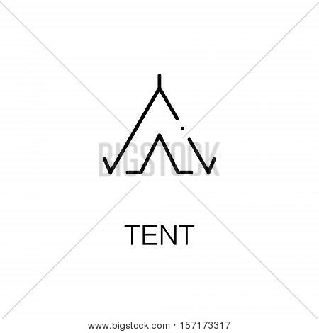 Tent flat icon. Single high quality outline symbol of camping for web design or mobile app. Thin line signs of camping tent for design logo, visit card, etc. Outline pictogram of tent