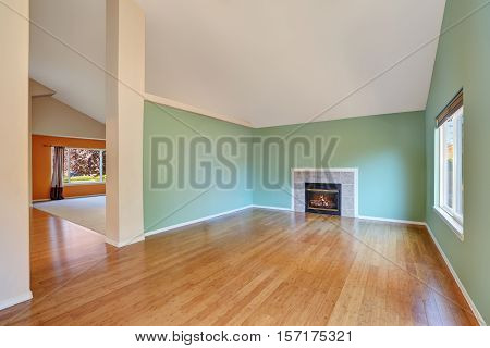 Empty Living Room Interior In A New Construction House