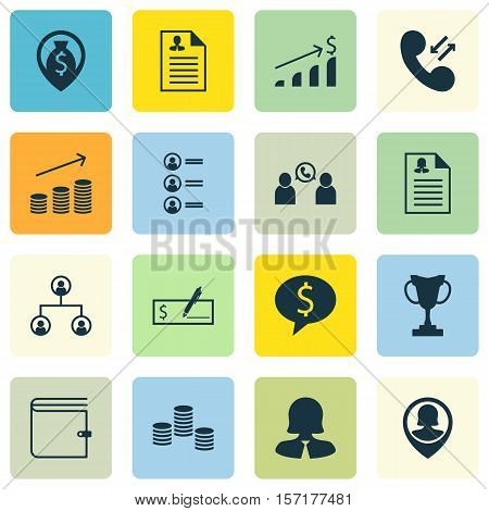 Set Of Human Resources Icons On Curriculum Vitae, Job Applicants And Successful Investment Topics. E