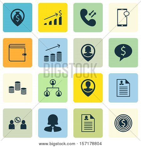 Set Of Hr Icons On Successful Investment, Money And Money Navigation Topics. Editable Vector Illustr