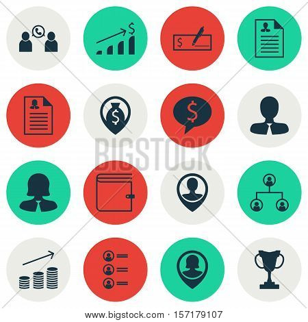 Set Of Human Resources Icons On Female Application, Business Woman And Tree Structure Topics. Editab
