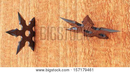 shuriken in the tree 3d render protection, shinobi, shuriken, stainless, star, steel