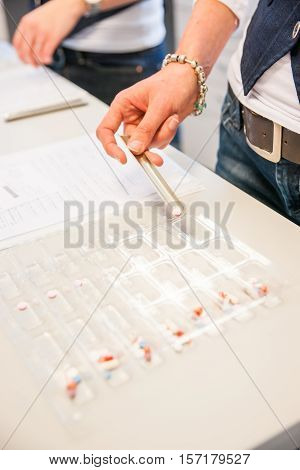 Sorting Medications for patient's at a pharmacy or hospital