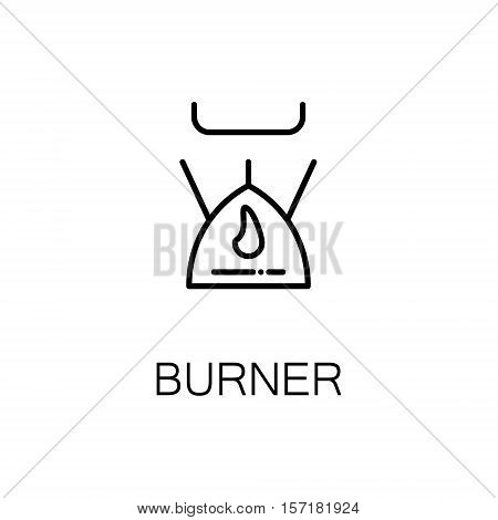 Burner flat icon. Single high quality outline symbol of camping for web design or mobile app. Thin line signs of camping burner for design logo, visit card, etc. Outline pictogram of burner