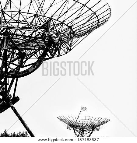 Synthesis radio telescope at Westerbork, Drenthe Netherlands