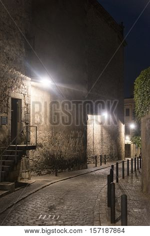 Girona (Gerona Catalunya Spain): old typical street by night