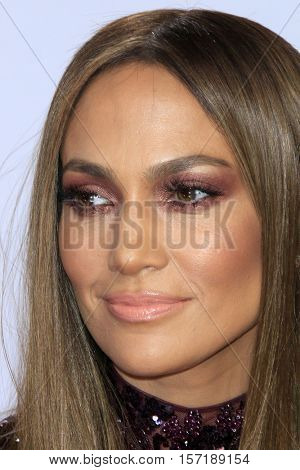 LAS VEGAS - NOV 17:  Jennifer Lopez at the 17th Annual Latin Grammy Awards at T-Mobile Arena on November 17, 2016 in Las Vegas, NV