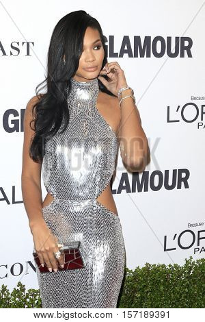 LOS ANGELES - NOV 14:  Chanel Iman at the Glamour Women Of The Year 2016 at NeueHouse Hollywood on November 14, 2016 in Los Angeles, CA