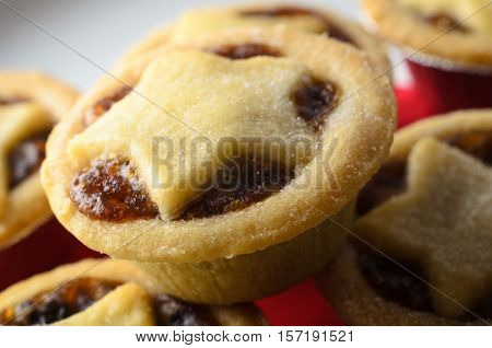 Christmas Mince Pie Stack Close Up