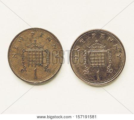 Vintage Uk 1 Penny Coin