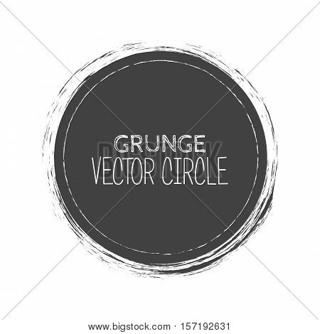 Vector Grunge Circle. Element for your Design. Rubber Stamp Texture. Distress Border Frame.