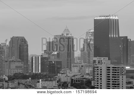 Black and White, Bangkok central business downtown
