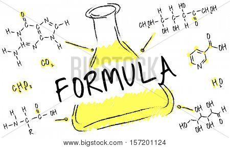 Science Experiment Laboratory Formula Chemical Concept