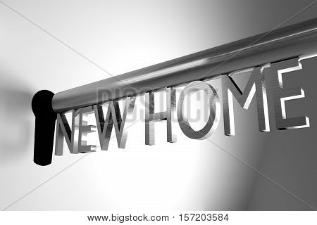 metall key lock keyhole new home 3D Illustration