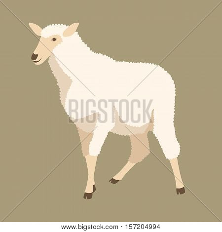 sheep vector illustration style Flat profile side