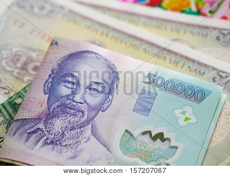 Vietnamese Money 500,000 Dong Banknote