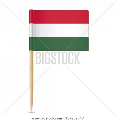 Flag of Hungary. Flag toothpick on white background 10eps
