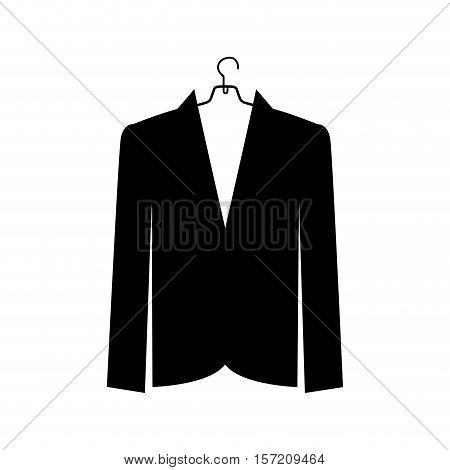 jacket femenine icon image vector illustration design