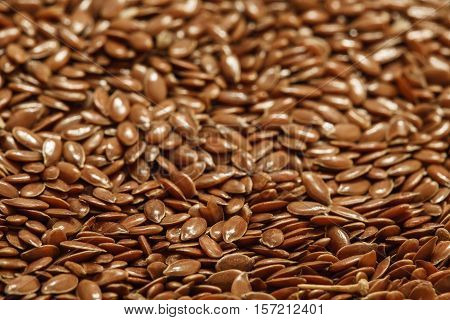 flax seed background, linen seeds pile photo