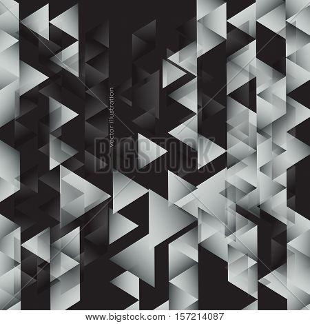 abstract geometric background made of triangles. gradient.