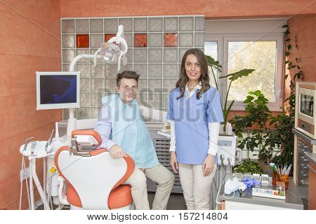 Young Men At The Dentist