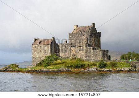 Scotland's Eilean Donan Castle with a bridge across the loch.
