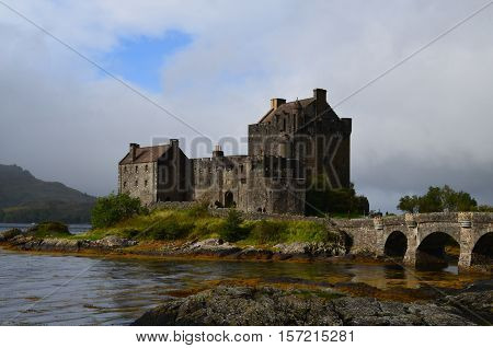 Loch Duich with Eilean Donan Castle in the center.