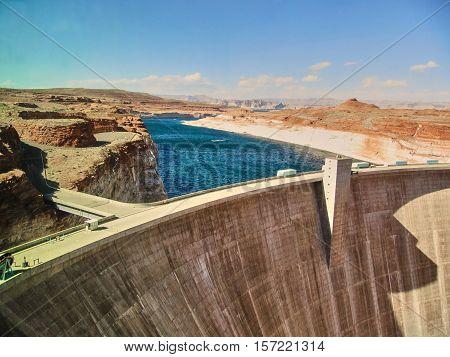 The Glen Canyon Dam - Page Arizona
