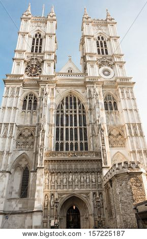 The Westminster Abbey is a large mainly Gothic abbey church in the city of Westminster London.It is one of the UK's notable religious buildings and traditional place of coronation and burial site for monarchs.