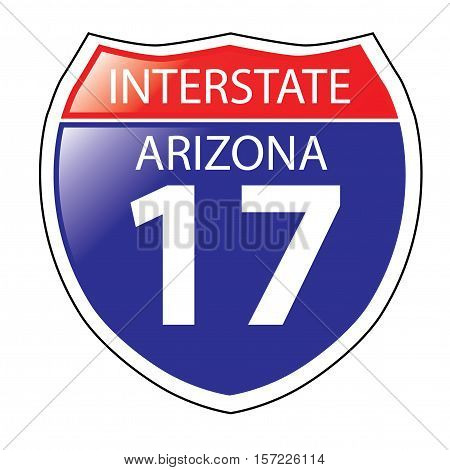 Layered artwork of Arizona I-17 Interstate Sign