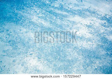 Textured Ice From The Rhone Glacier, Switzerland