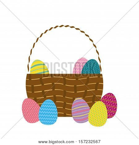 Happy easter eggs icon vector illustration graphic design