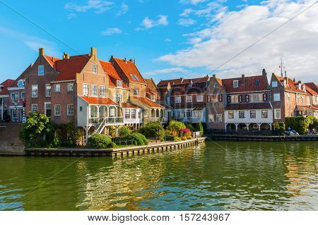 picturesque scene of the historic town of Enkhuizen, Netherland