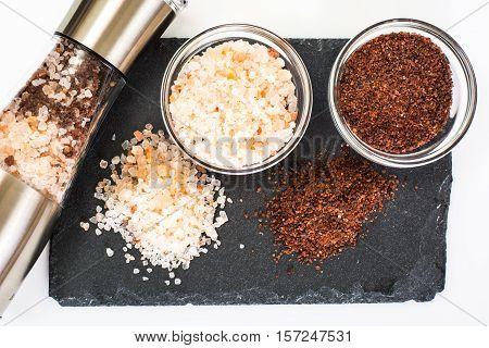 Stylish mill for coarse salt and pepper Studio Photo