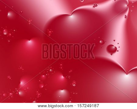 Red fractal with big and small hearts in various sizes and positions. Suitable for many creative Valentine or wedding designs or as a background for desktop or mobile phone, books, cards, presentations or websites.