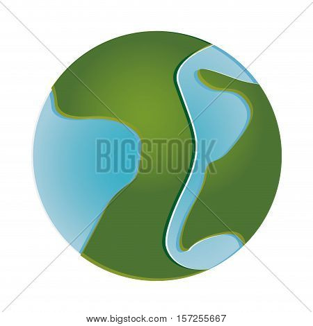 planet earth icon image vector illustration desgin