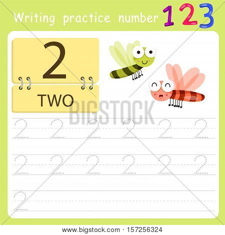 worksheet Writing practice number two for education