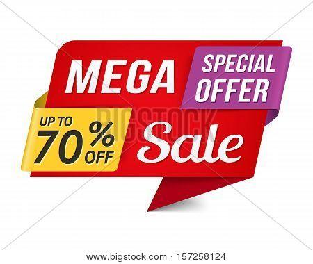 Special offer mega sale banner, vector eps10 illustration