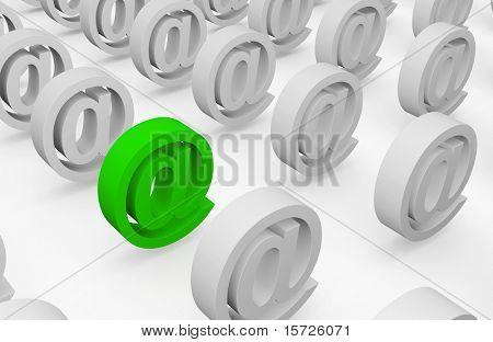Lines of email marks