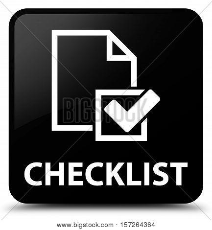 Checklist (checkbox icon) on black square button